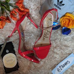 NWT Sam Edelman Red Sandal Heels Size 8.5